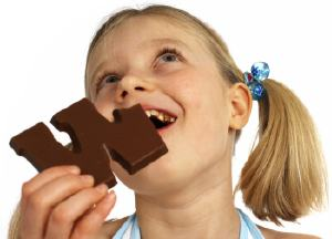 Girl Eating Choco-Let