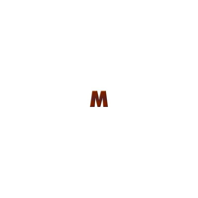 M - Dark Chocolate Letter