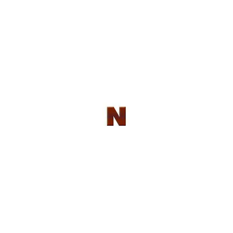 N - Dark Chocolate Letter