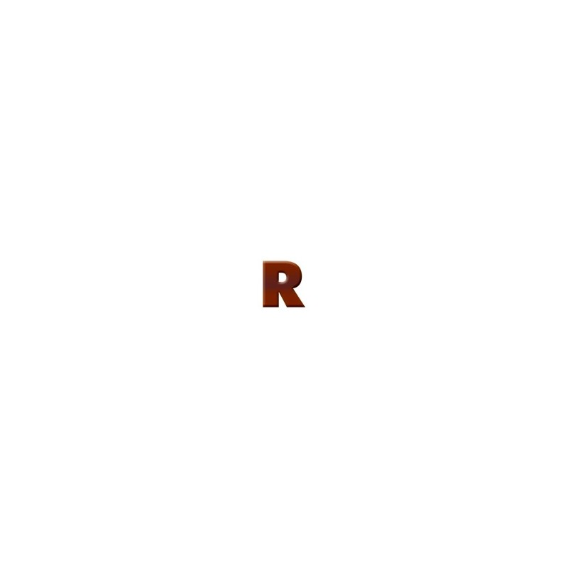 R - Dark Chocolate Letter
