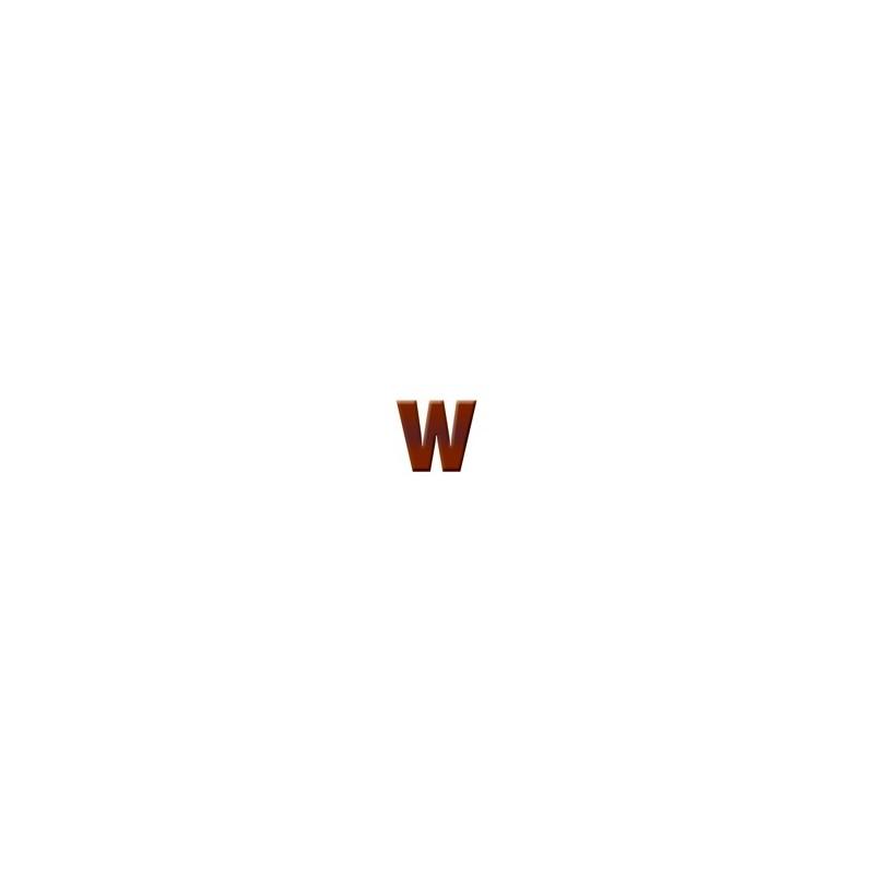 W - Dark Chocolate Letter