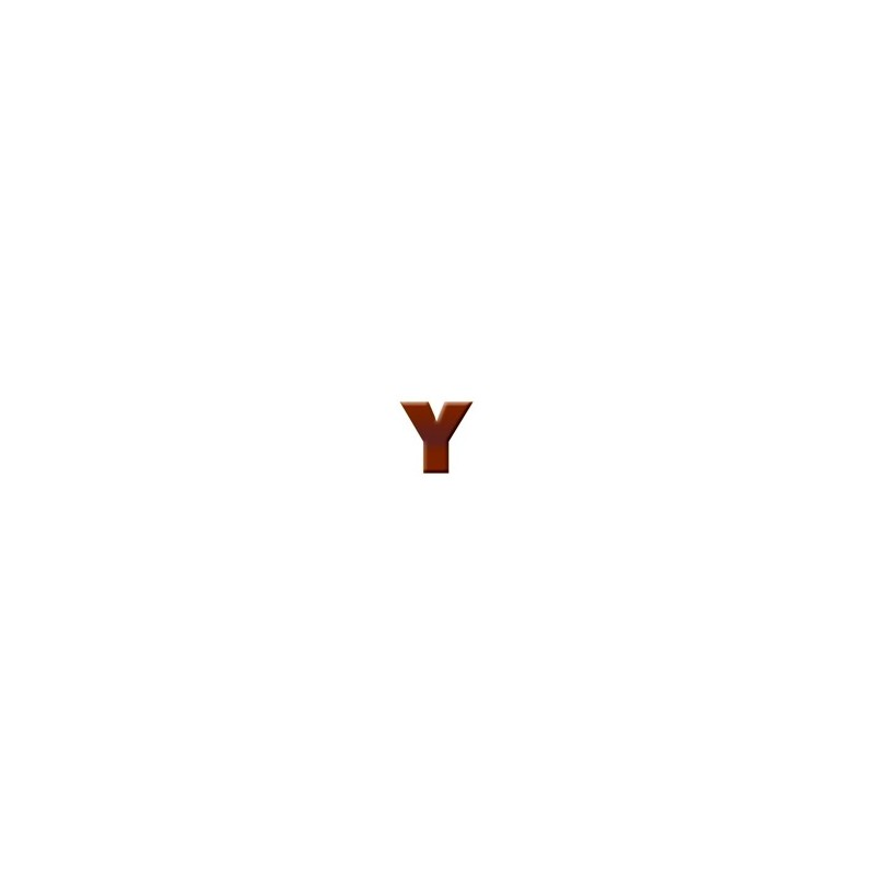 Y - Dark Chocolate Letter