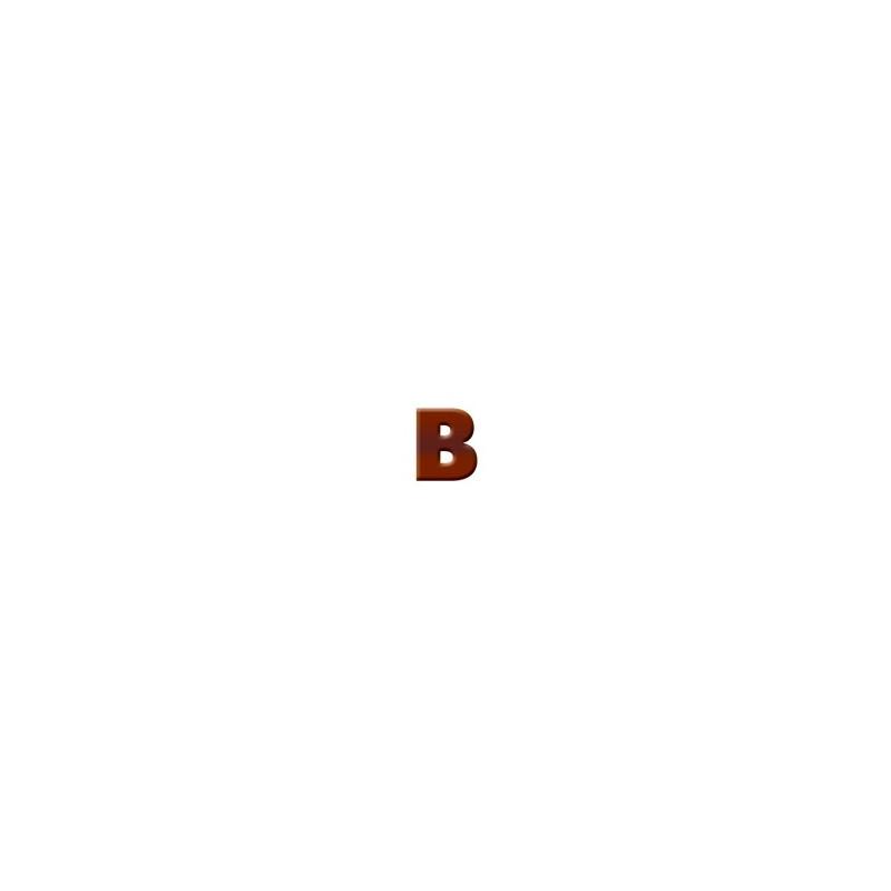 B - Dark Chocolate Letter